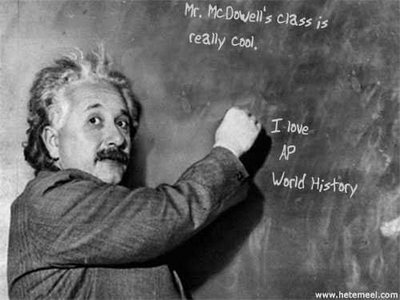Einstein and history...?