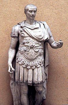 Caesar posing as general