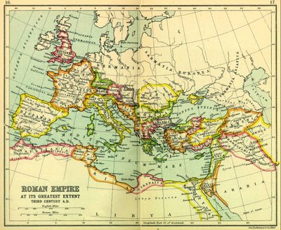 Roman Empire at its peak: click to enlarge