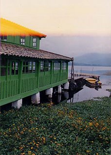 Image of boathouse in Ecuador, South  America