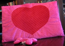 Heart pillow bed from Puppies With Attitude