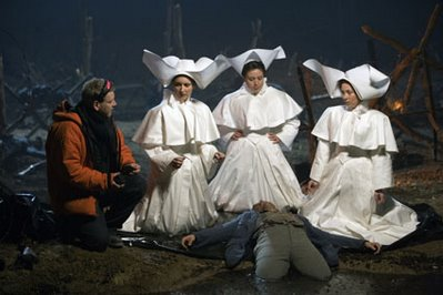 Three Ladies and Tamino, The Magic Flute, directed by Kenneth Branagh, at left