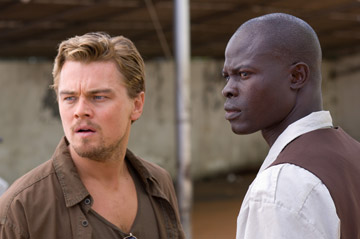 Leonard DiCaprio and Djimon Hounsou in Blood Diamond, directed by Edward Zwick