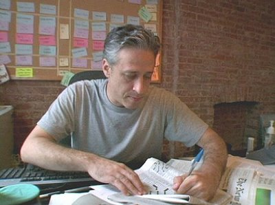 Jon Stewart solves the Times crossword in pen, Wordplay, directed by Patrick Creadon