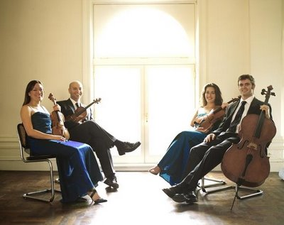Ensō String Quartet -- Maureen Nelson and John Marcus, violins; Melissa Reardon, viola; Richard Belcher, cello -- photo by David Mehr