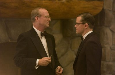 William Hurt and Matt Damon in The Good Shepherd, directed by Robert De Niro