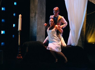 Leah Kaye Serr and David Krohn in The Rape of Lucretia, Peabody Chamber Opera, photo by Jesse M. Hellman