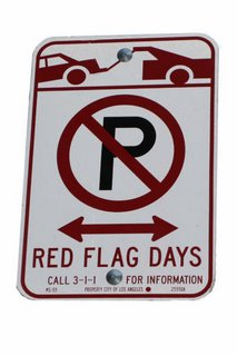 'Red Flag' No Parking Sign. Click to learn more...