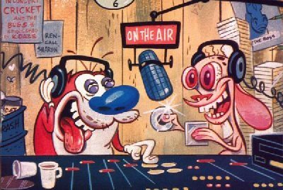 Ren and Stimpy on the aer