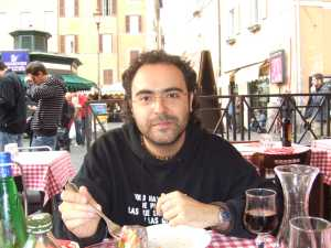 Comiendo en Campo di Fiori