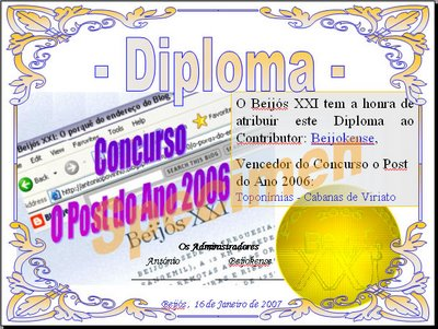 Diploma do Post do Ano 2006