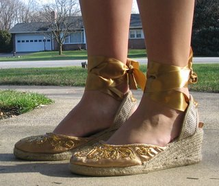 gold old navy shoes