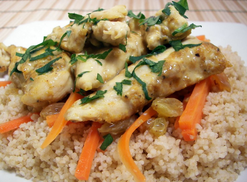 Culinary in the Desert: Curried Chicken with Couscous