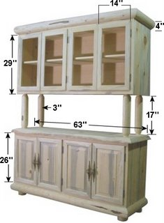 DIY log china closet hutch
