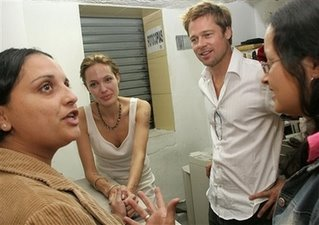 Brad Pitt and Angelina Jolie visited Colombian refugees living in Costa Rica