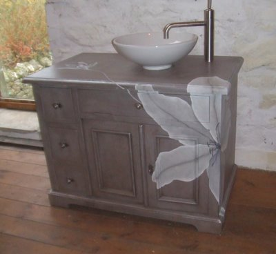 ghost furniture bathroom vanity sink unit