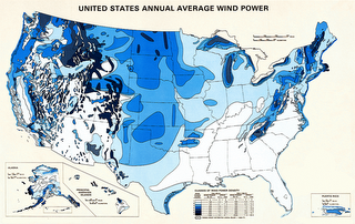Wind Density Classification for the United States.