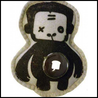 Stuff'd Monkee Keychain