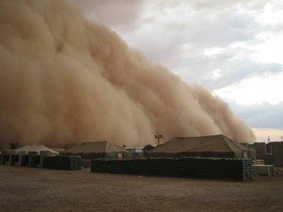 sand storm picture al asad iraq amazing pictures