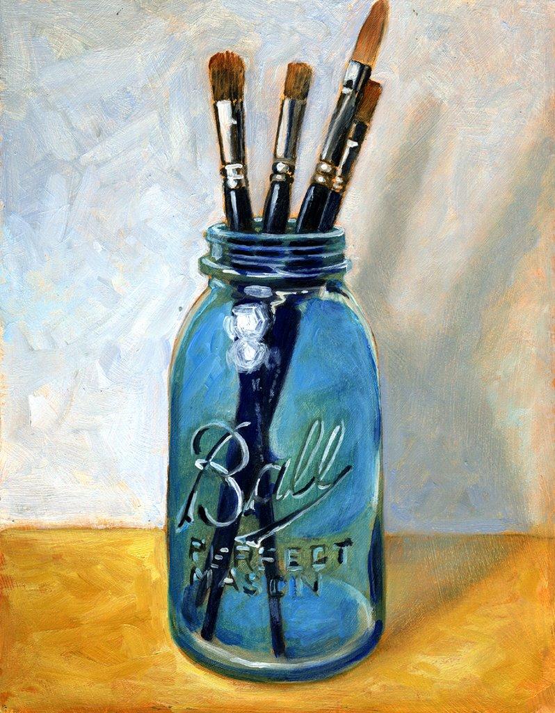 Oil Painting Jar