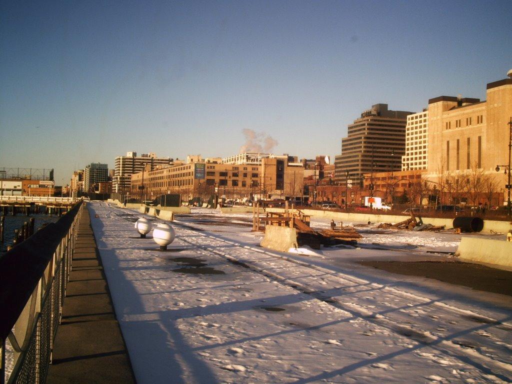 New york city hudson river park al atardecer for Hudson park