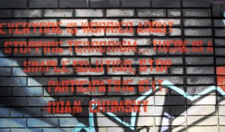 Noam Chomsky Graffiti Quote