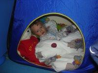 leżę w namiociku