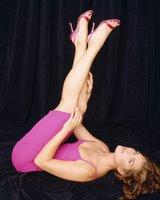 Brooke Shields in a Pink Dress