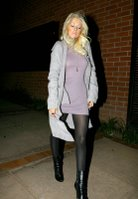 Christina Aguilera in Black Nylons
