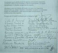 Firmantes de la Declaración