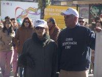 María Comella, vicepresidenta del Centro Cubano y Rigoberto Carceller, presidente de la Plataforma