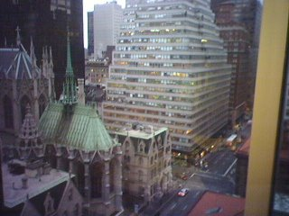 View from the window of Tery Spataro's office