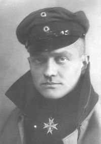 Manfred von Richthofen. Around his neck he wears the Pour le Mérite, Prussia