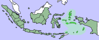 Map showing Maluku Islands in Indonesia