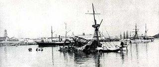 USS Maine, lying in Havana harbor