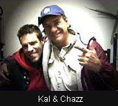 "Artist Kal Spelletich and Chuck ""Chazz"" Harris after the filming"