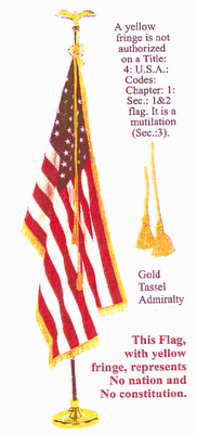Yellow Fringed Military Flag
