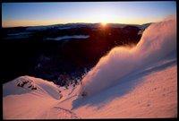 No better way to start the day than skiing orange pow