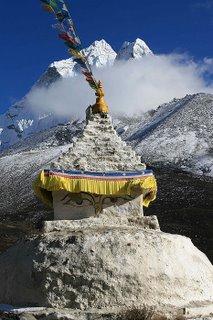 Buddhist Stupa near Dingboche, Nepal