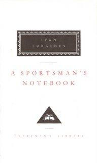 A Sportsman's Notebook bookcover; Everyman's Library
