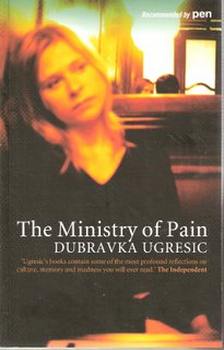 The Ministry of Pain bookcover; SAQI