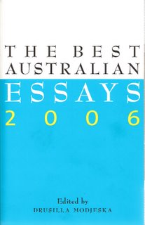 The Best Australian Essays 2006 bookcover; Black Inc.
