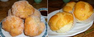 Chinese donuts and custard-filled pineapple buns