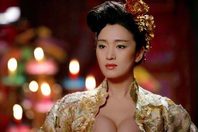 Gong Li as Emperess Phoenix in Curse of the Golden Flower