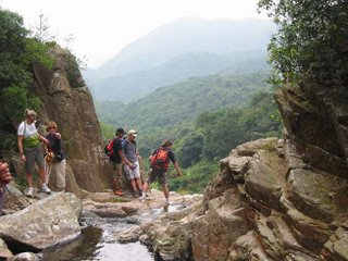 At the top of a portion of Luk Wu Gorge