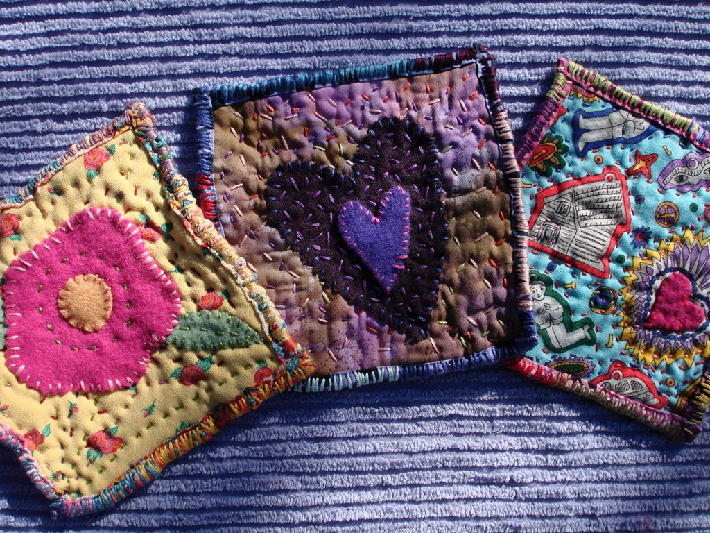 Art Spirit: Mini Art Quilt squares : how to make art quilts - Adamdwight.com