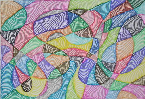 El blog de la profe cu nto podemos hacer con la l nea for Imagenes de cuadros abstractos faciles de hacer