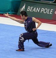 Wushu competitor