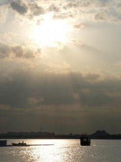 The sun sets over the Corniche