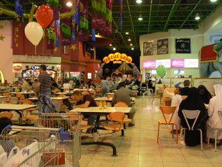 The food court in Landmark mall
